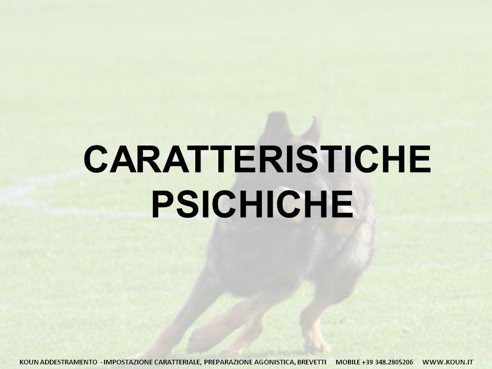 CARATTERISTICHE PSICHICHE