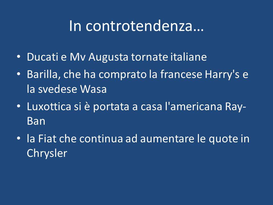 In controtendenza… Ducati e Mv Augusta tornate italiane