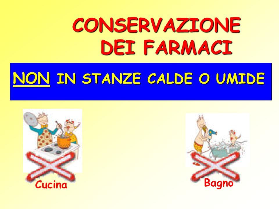 CONSERVAZIONE DEI FARMACI