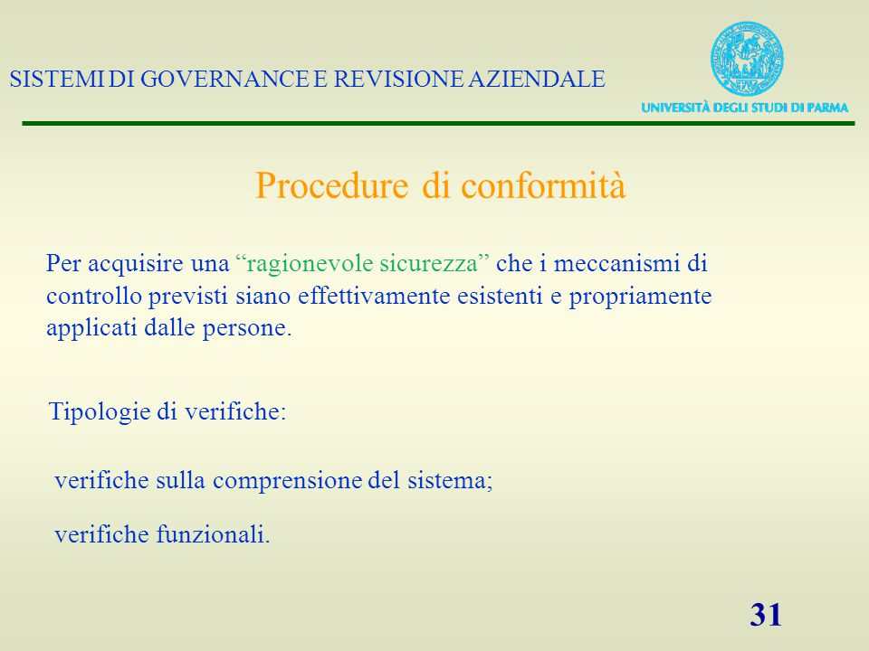 Procedure di conformità