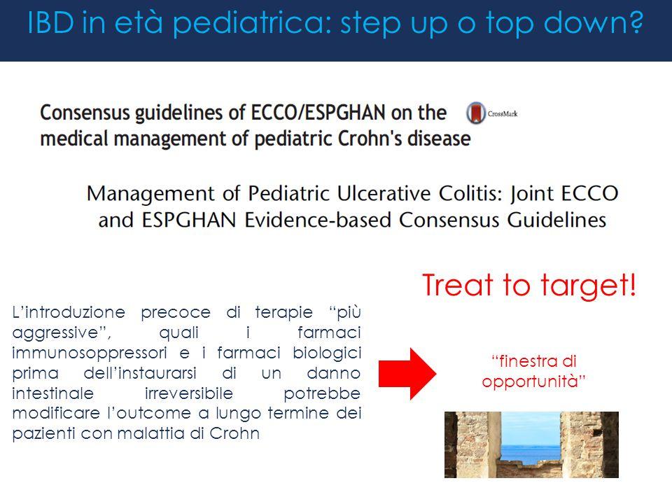 IBD in età pediatrica: step up o top down