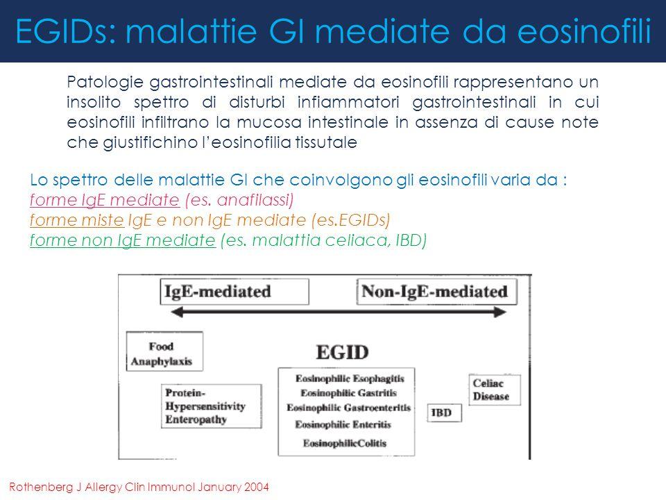 EGIDs: malattie GI mediate da eosinofili