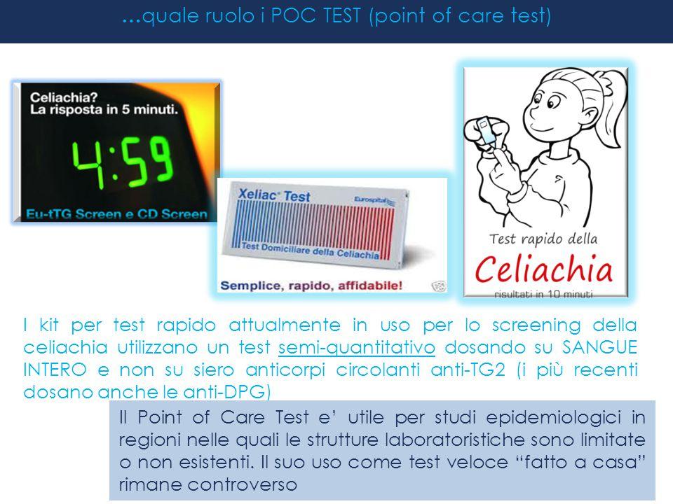 …quale ruolo i POC TEST (point of care test)
