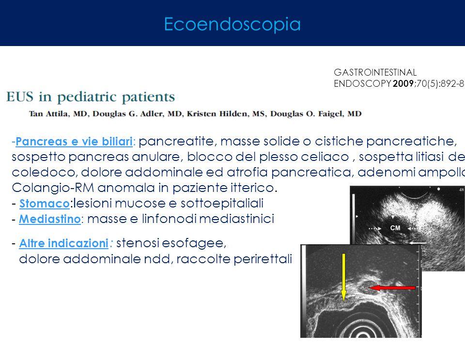Ecoendoscopia Stomaco:lesioni mucose e sottoepitaliali