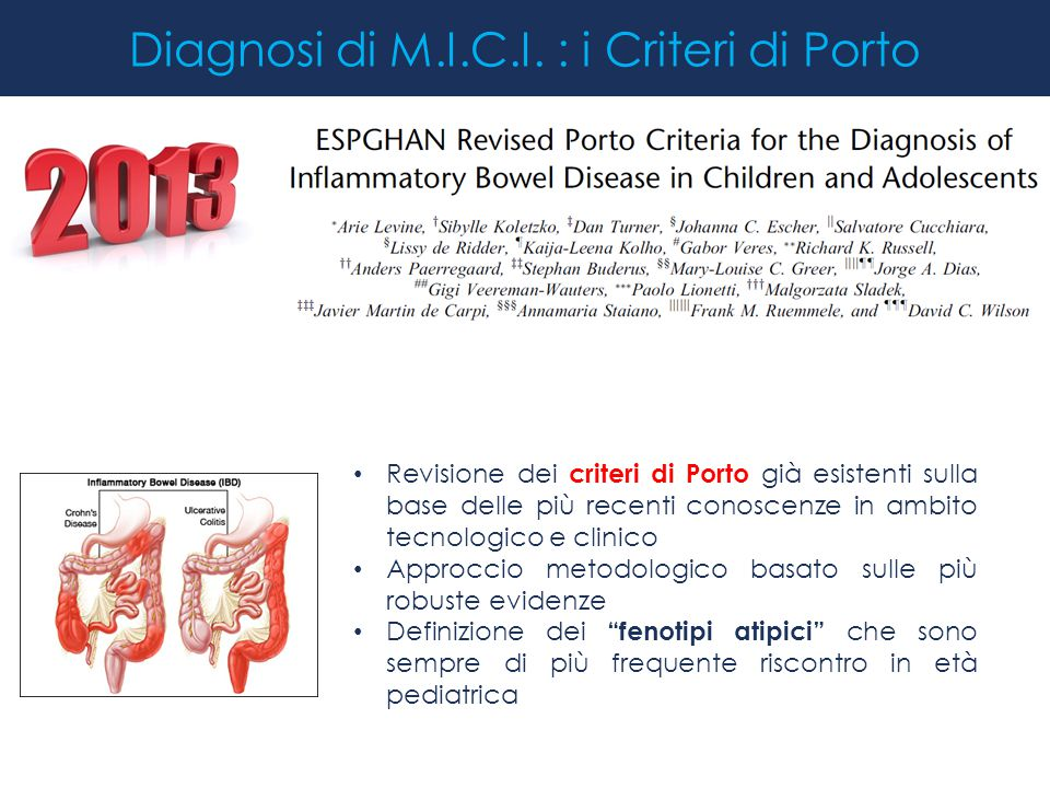 Diagnosi di M.I.C.I. : i Criteri di Porto