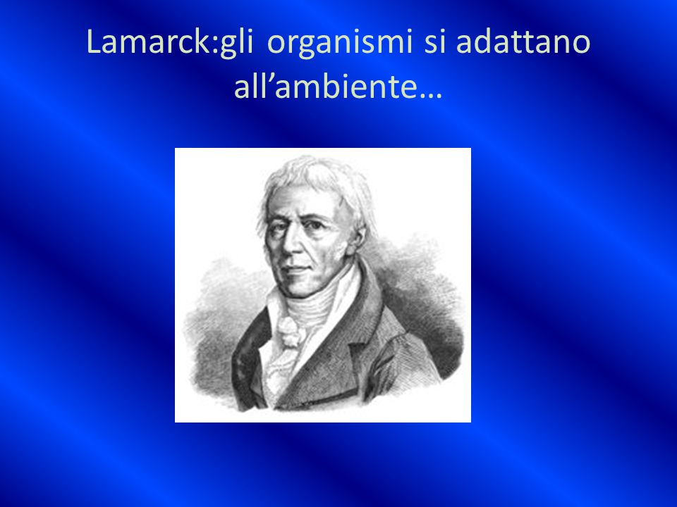 Lamarck:gli organismi si adattano all'ambiente…