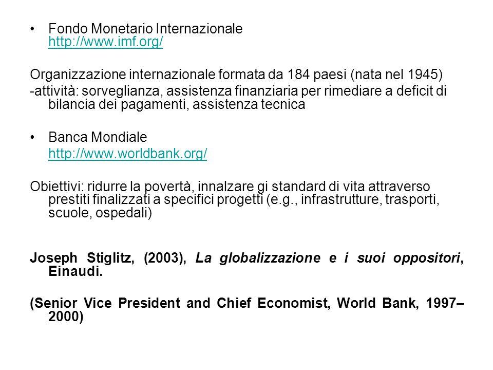 Fondo Monetario Internazionale http://www.imf.org/