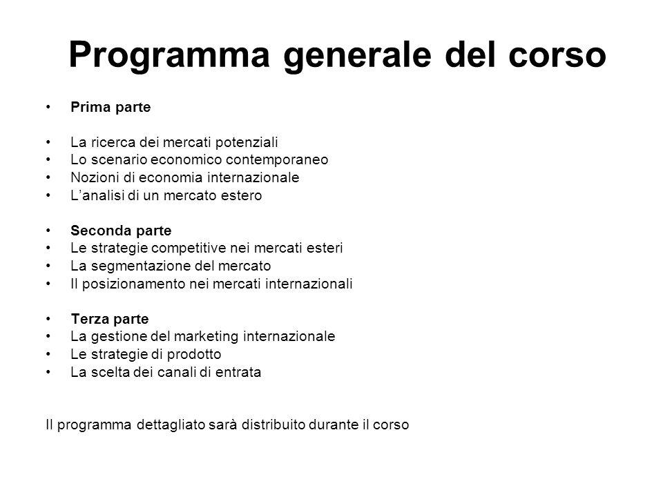 Programma generale del corso