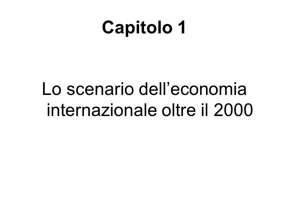Lo scenario dell'economia internazionale oltre il 2000