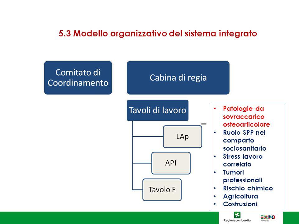 5.3 Modello organizzativo del sistema integrato