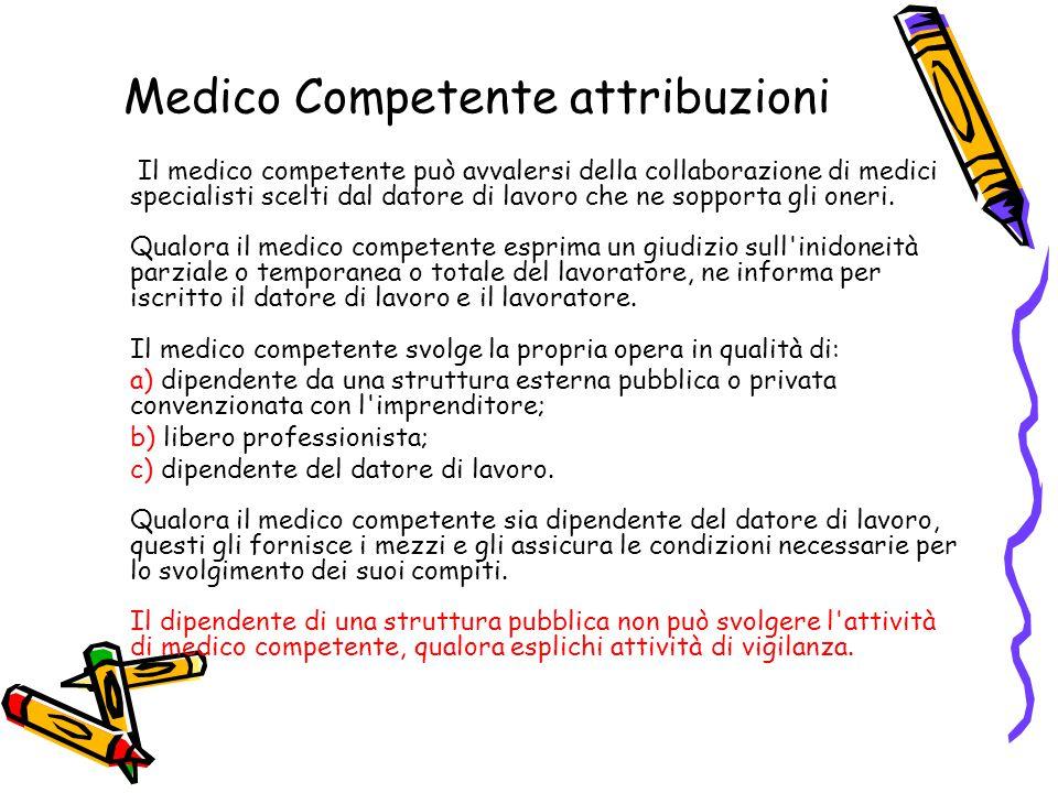 Medico Competente attribuzioni