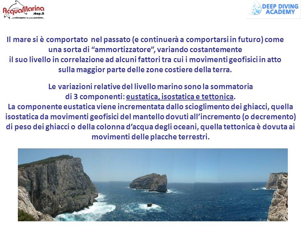 Le variazioni relative del livello marino sono la sommatoria