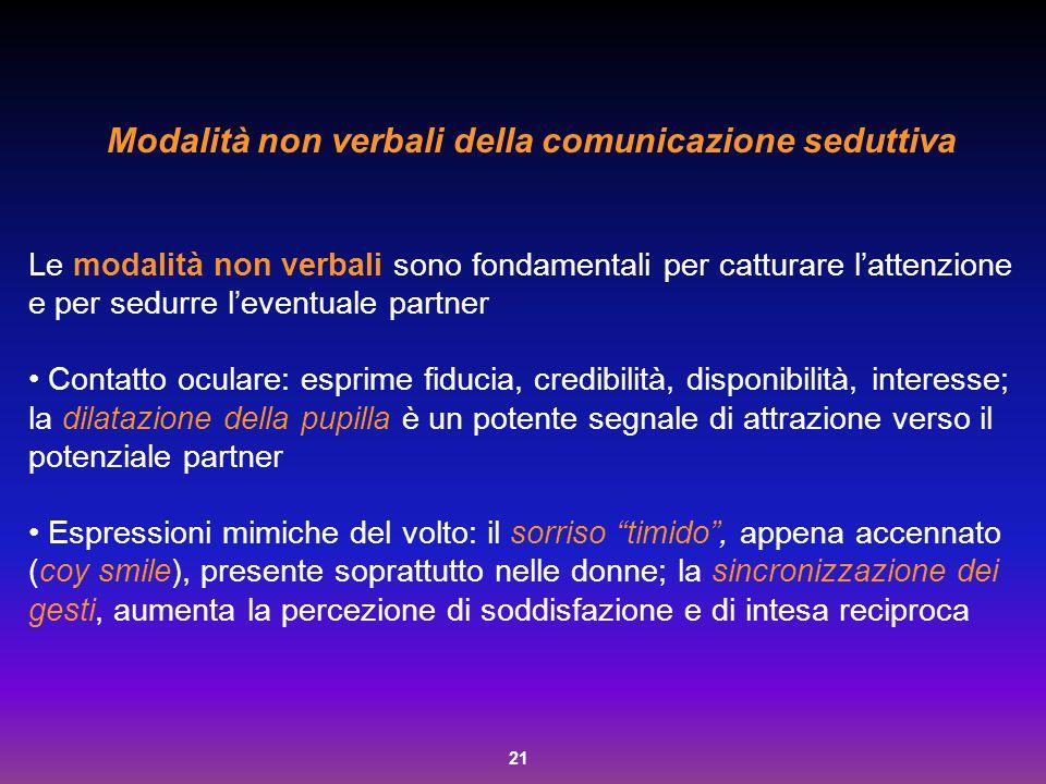 Modalità non verbali della comunicazione seduttiva
