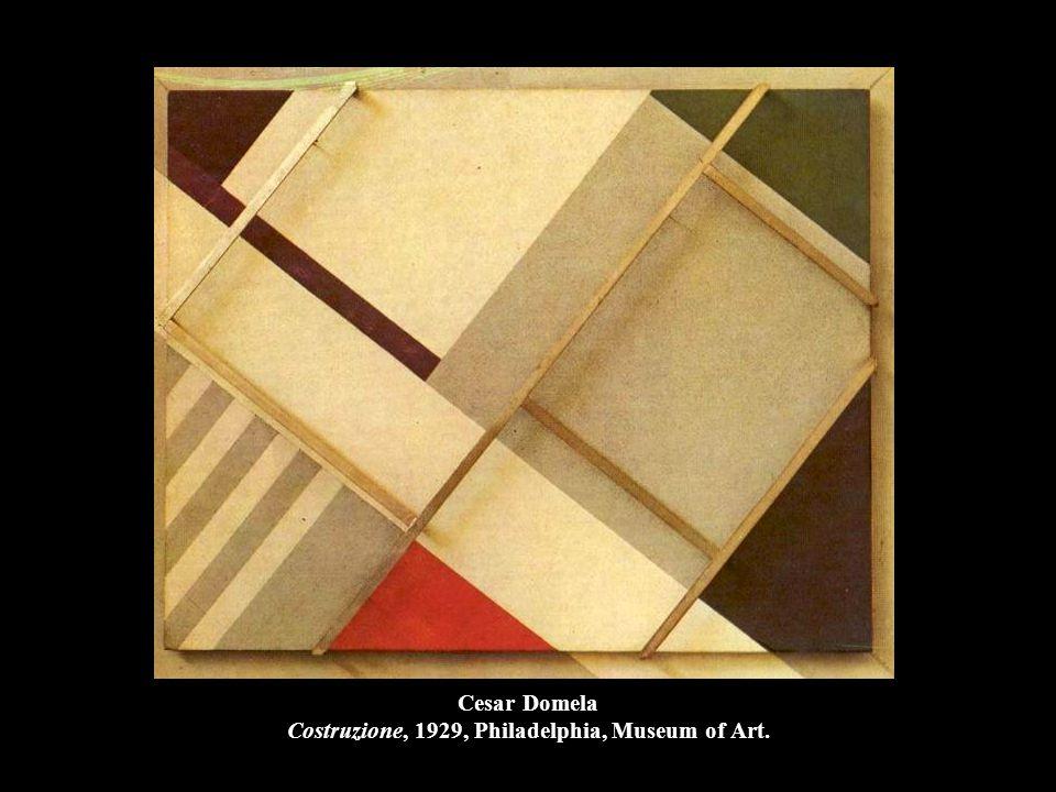 Cesar Domela Costruzione, 1929, Philadelphia, Museum of Art.