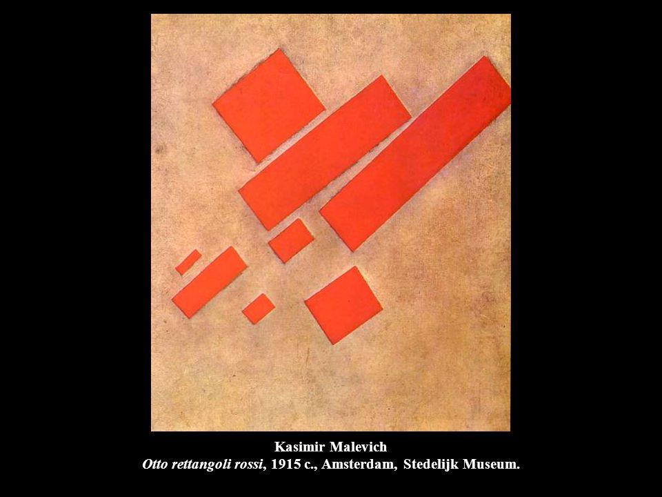 Kasimir Malevich Otto rettangoli rossi, 1915 c