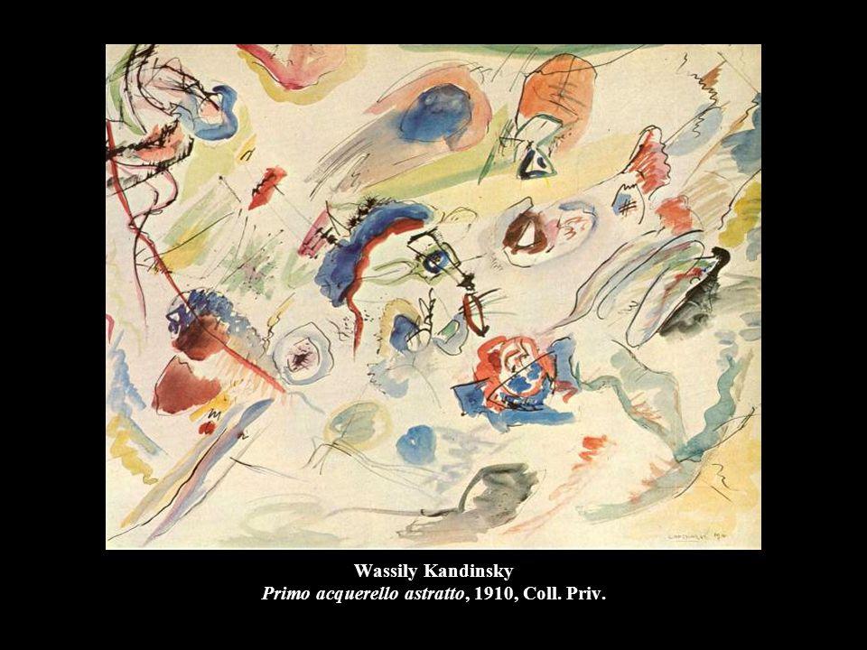 Wassily Kandinsky Primo acquerello astratto, 1910, Coll. Priv.