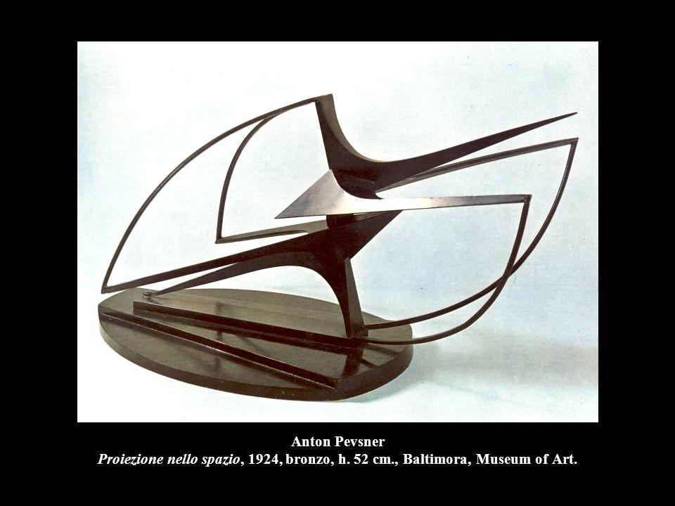 Anton Pevsner Proiezione nello spazio, 1924, bronzo, h. 52 cm