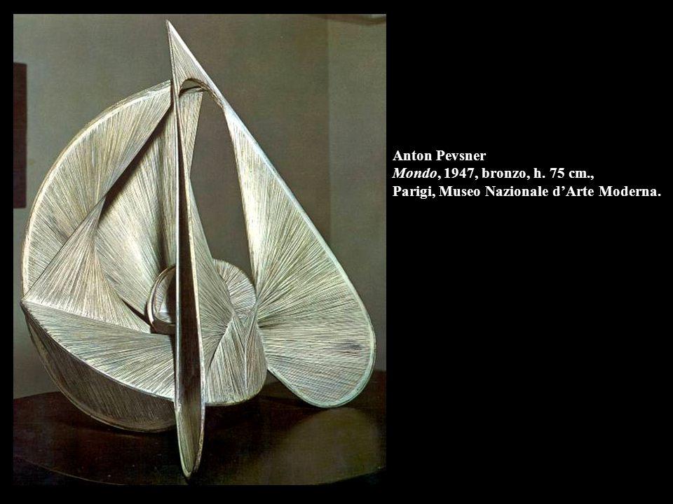 Anton Pevsner Mondo, 1947, bronzo, h. 75 cm