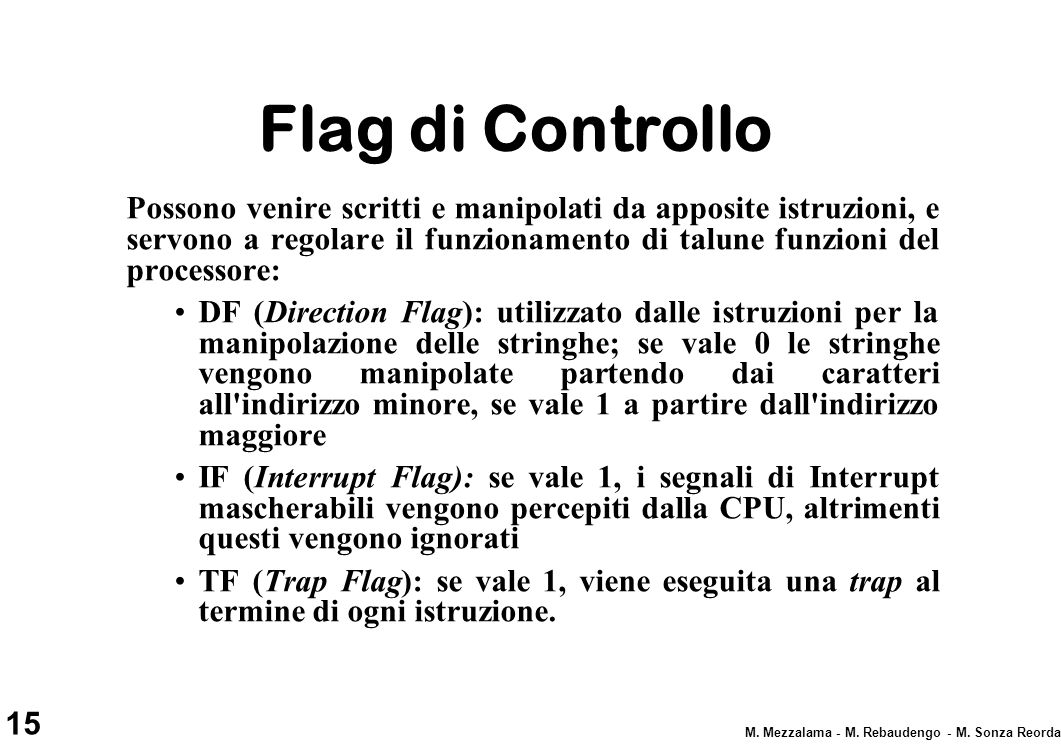 Flag di Controllo