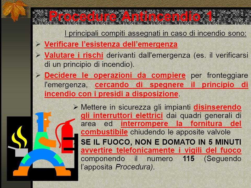 Procedure Antincendio 1