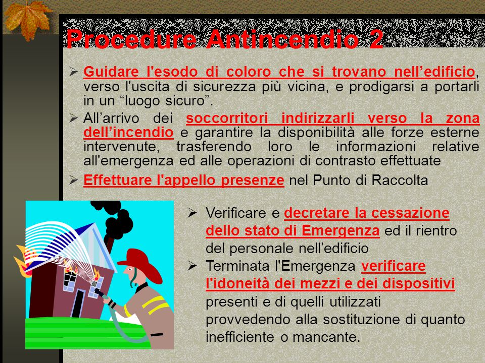Procedure Antincendio 2