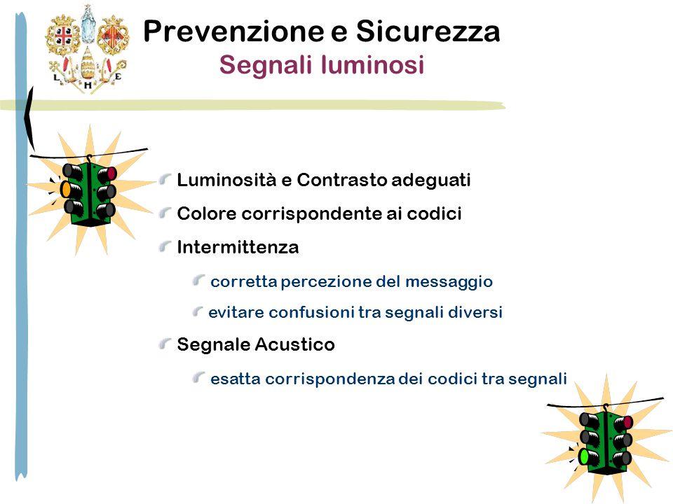 Prevenzione e Sicurezza Segnali luminosi