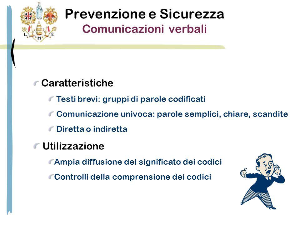 Prevenzione e Sicurezza Comunicazioni verbali