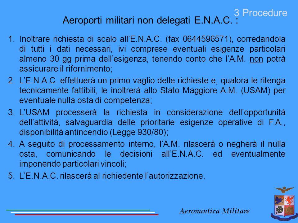 Aeroporti militari non delegati E.N.A.C. :