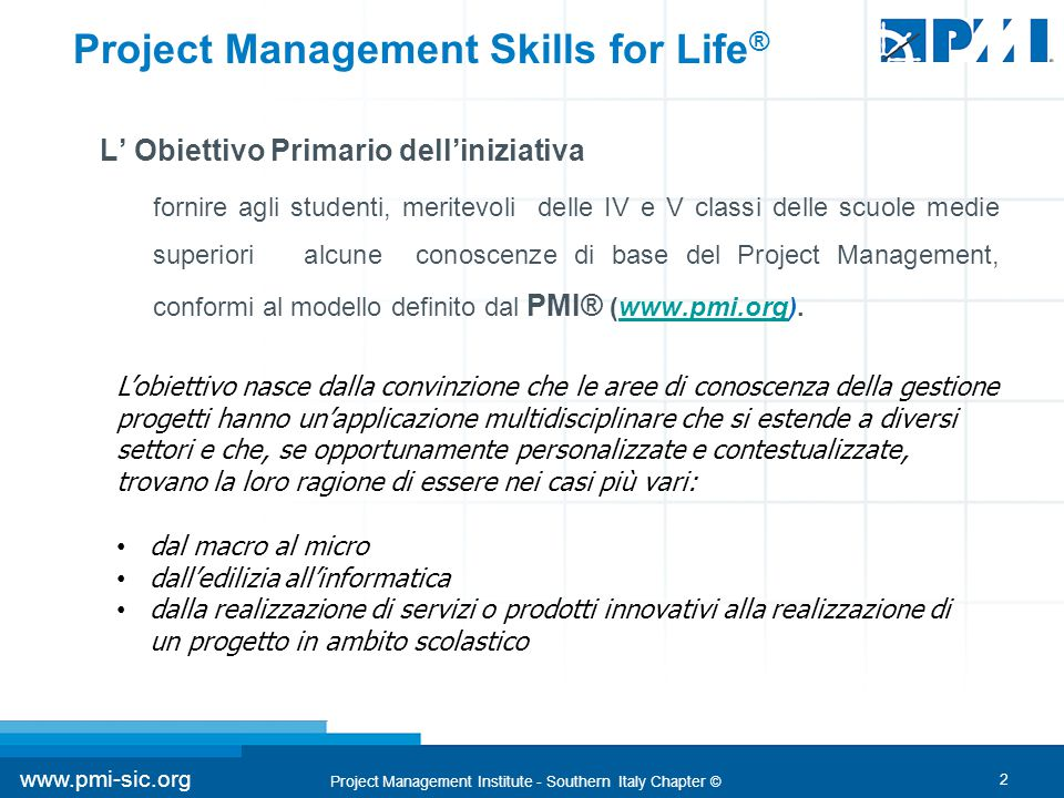 Project Management Skills for Life®