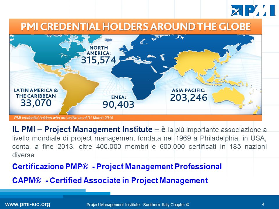 Certificazione PMP® - Project Management Professional