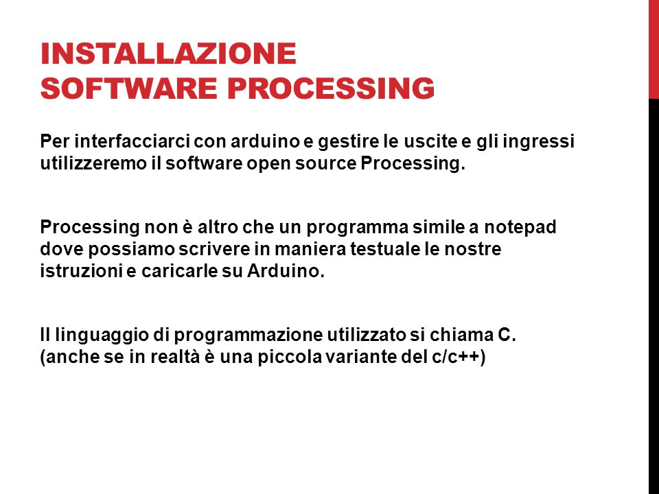 Installazione software processing