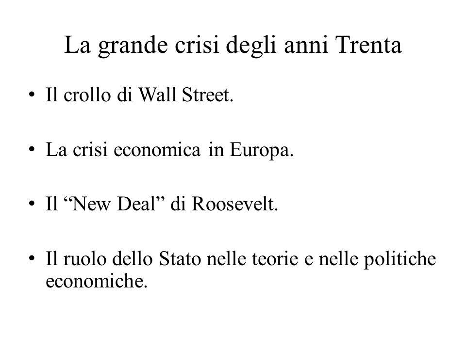 La grande crisi degli anni Trenta