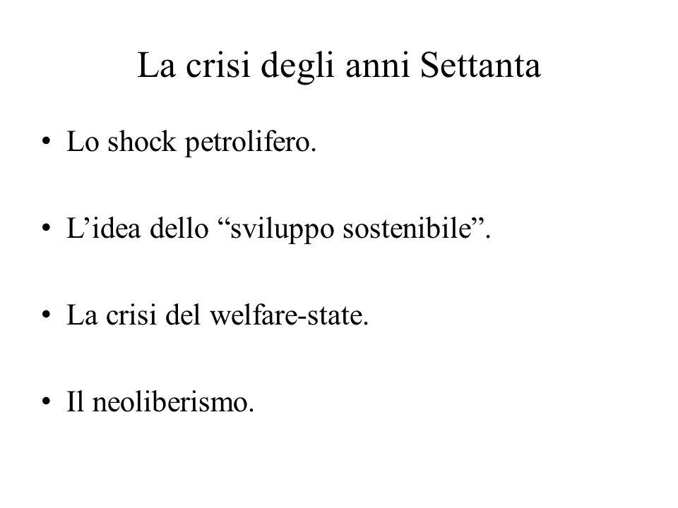 La crisi degli anni Settanta