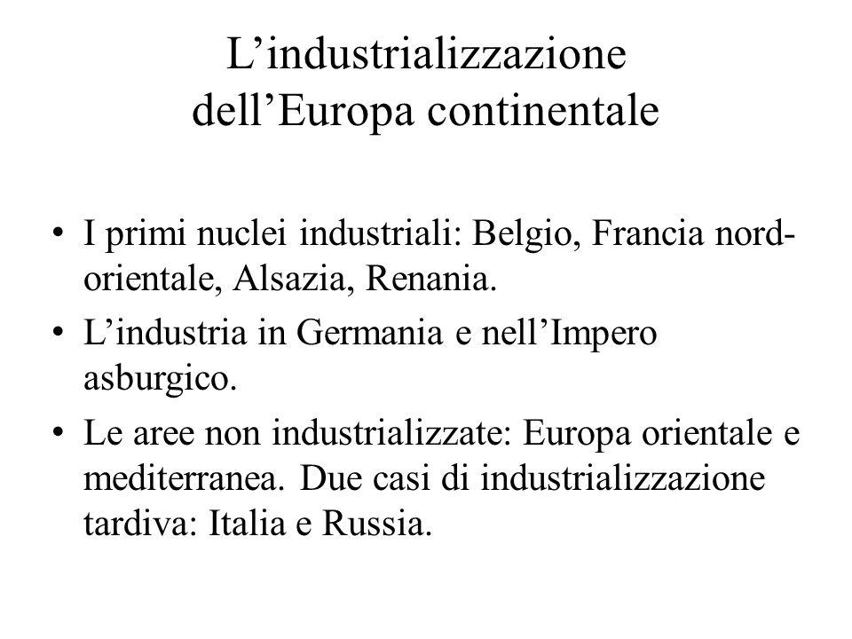 L'industrializzazione dell'Europa continentale