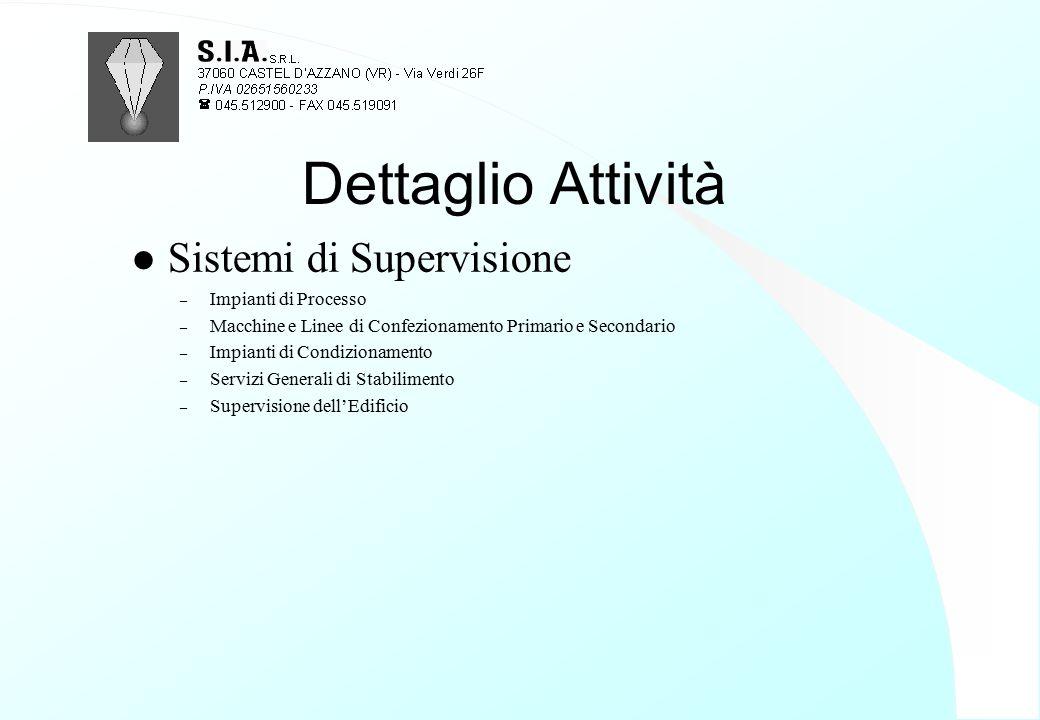 Dettaglio Attività Sistemi di Supervisione Impianti di Processo