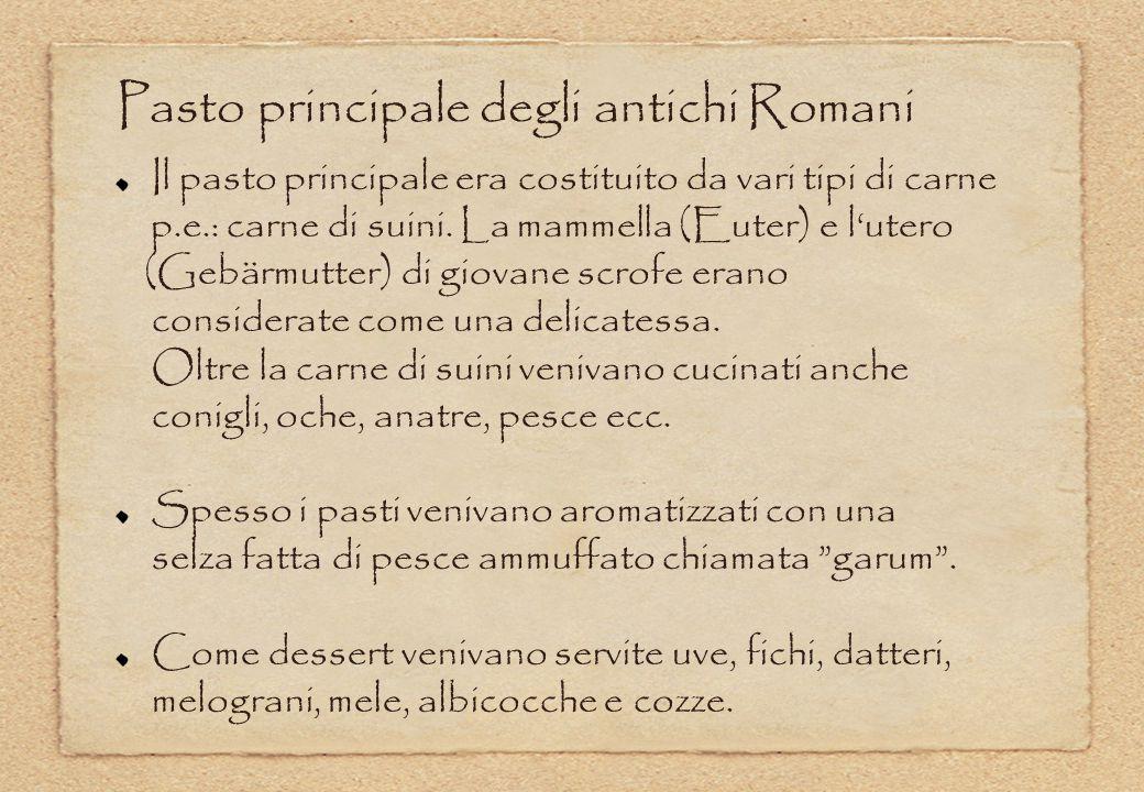 Pasto principale degli antichi Romani