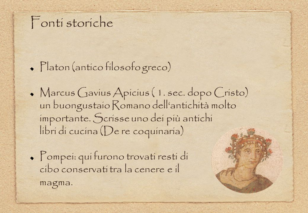 Antichi romani a tavola la cucina romana antica ppt for Cibo romano