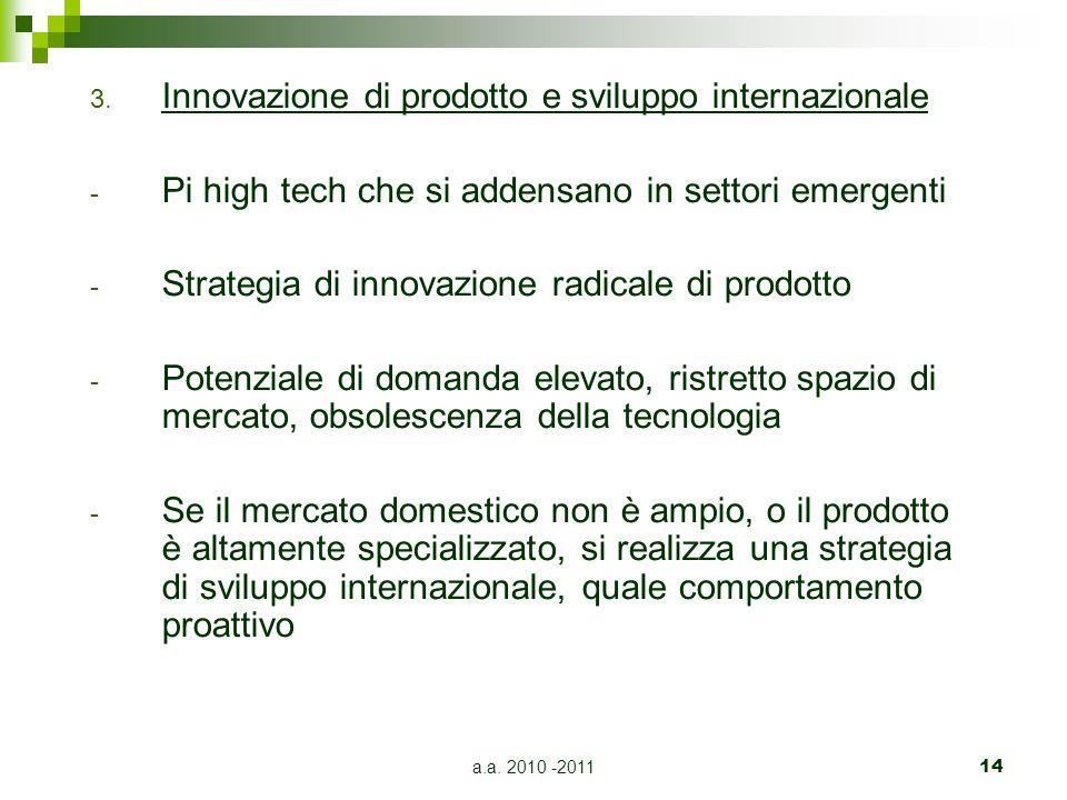 Innovazione di prodotto e sviluppo internazionale