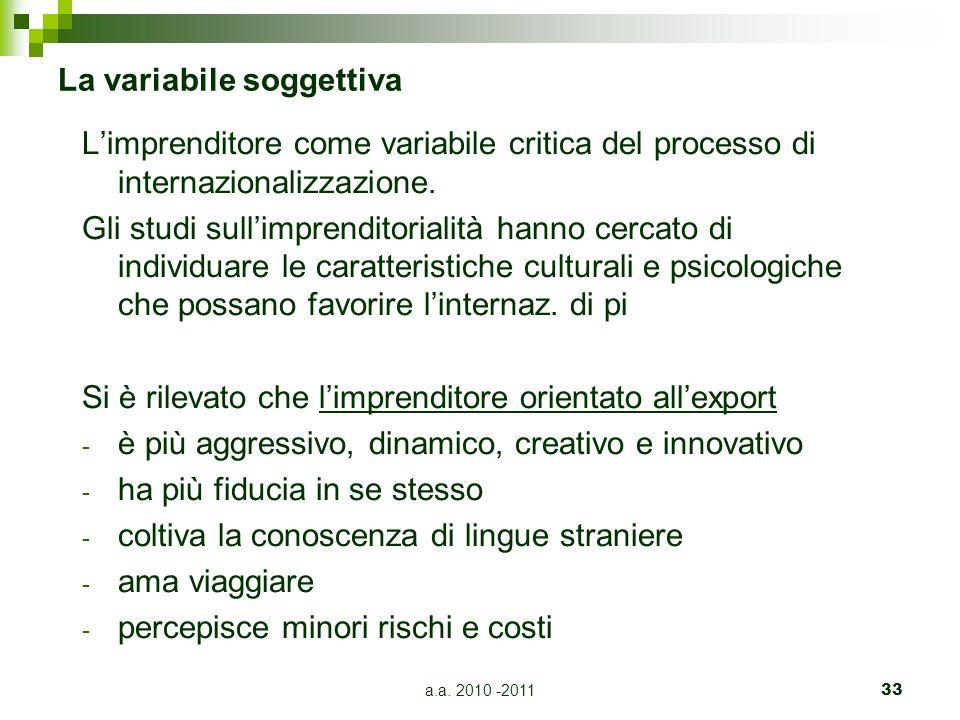 La variabile soggettiva