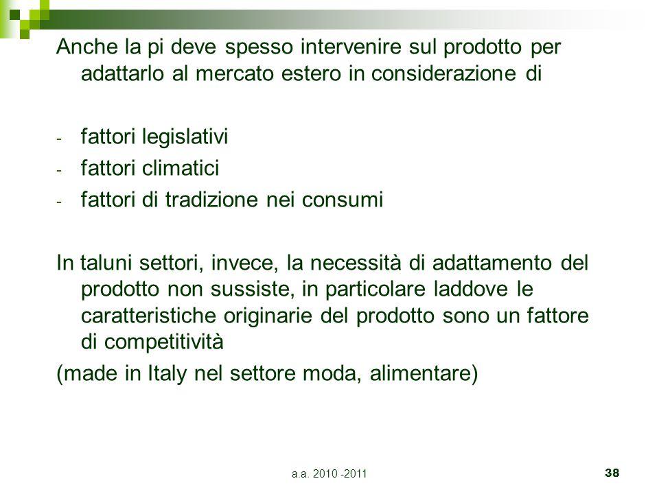 fattori di tradizione nei consumi