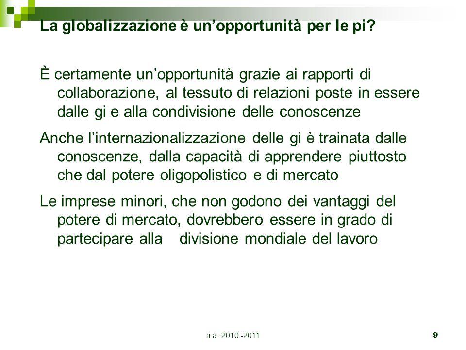 La globalizzazione è un'opportunità per le pi