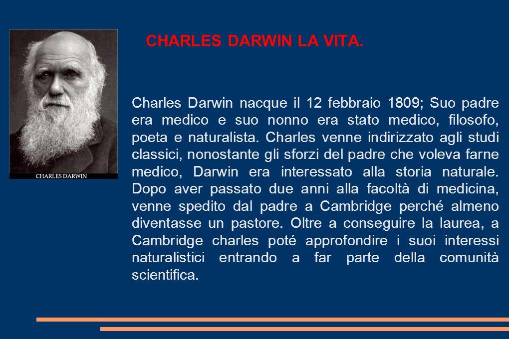 CHARLES DARWIN LA VITA.