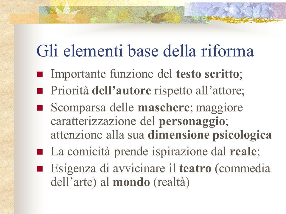 Gli elementi base della riforma