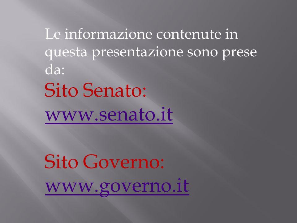 Sito Senato: www.senato.it