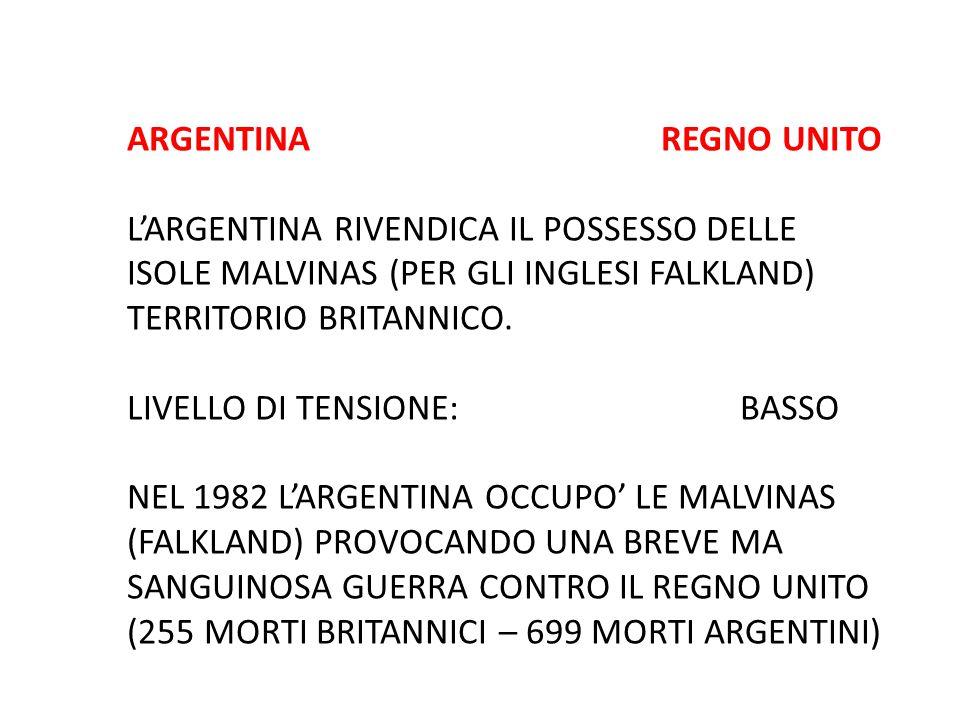 ARGENTINA REGNO UNITO