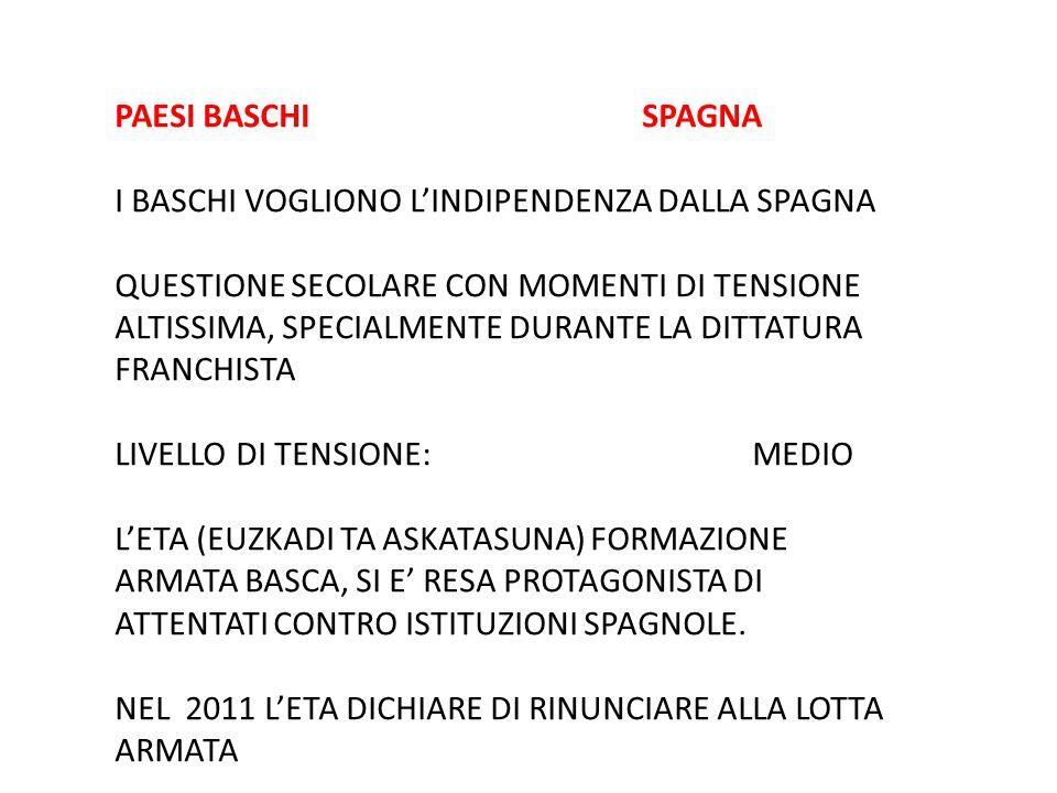 PAESI BASCHI SPAGNA I BASCHI VOGLIONO L'INDIPENDENZA DALLA SPAGNA.