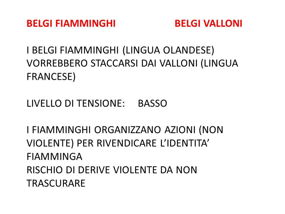 BELGI FIAMMINGHI BELGI VALLONI