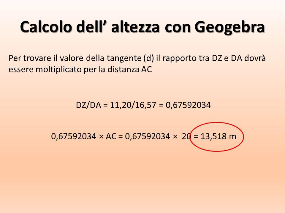 Calcolo dell' altezza con Geogebra