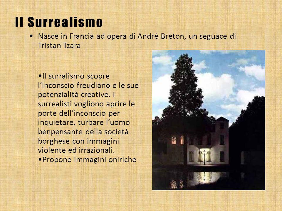 Il Surrealismo Nasce in Francia ad opera di André Breton, un seguace di Tristan Tzara.