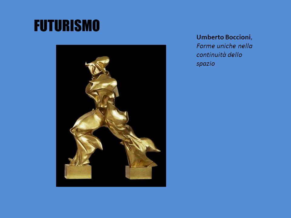 FUTURISMO Umberto Boccioni, Forme uniche nella continuità dello spazio